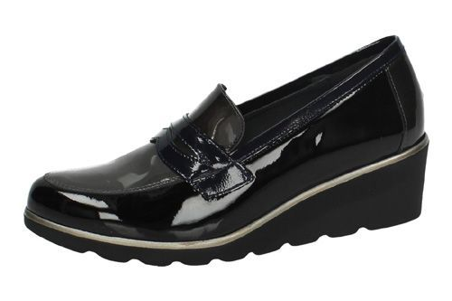 S-955 MOCASINES CHAROL color NEGRO