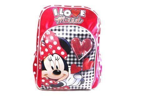 2103000886 MOCHILA DE MINNIE color ROJO