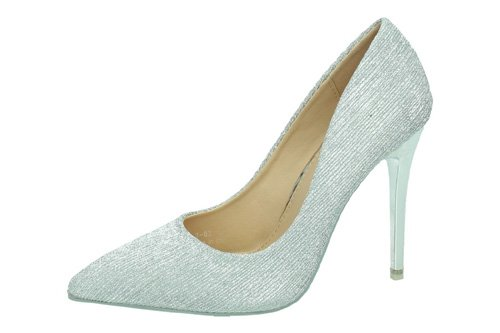 L7-82 ZAPATOS TACON AGUJA color PLATA