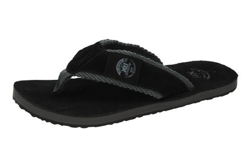45639 CHANCLAS DE PIEL color NEGRO