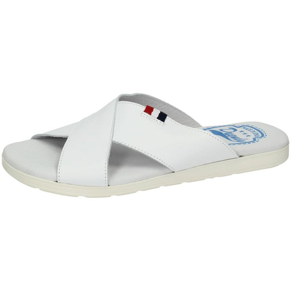 931 CHANCLAS PIEL DUENDY color BLANCO