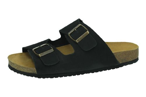 8020 CHANCLAS 2 HEBILLAS color NEGRO