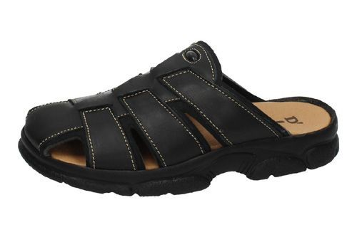 7023 CHANCLAS DE PIEL color NEGRO