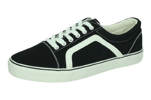 9-A1900A-12 ZAPATILLAS LONA color NEGRO