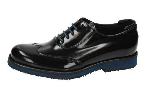 E-128 ZAPATOS BLUCHER color NEGRO