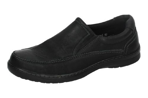 842-5 MOCASINES DE PIEL color NEGRO