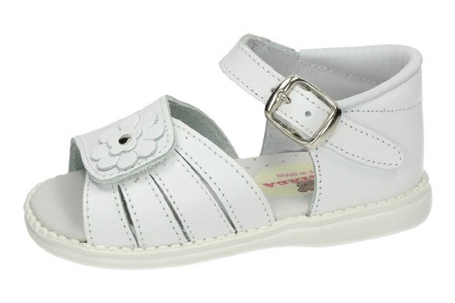 344 SANDALIAS CON VELCRO color BLANCO
