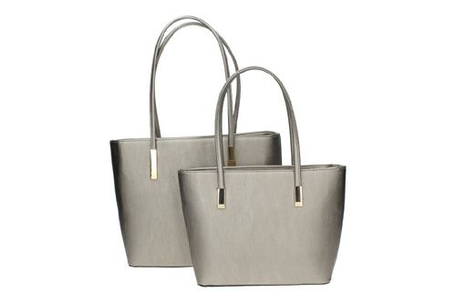 6701P PACK DE 2 BOLSOS color PLATA