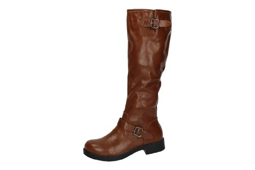 559-13 BOTAS ALTAS MOTERAS color CAMEL