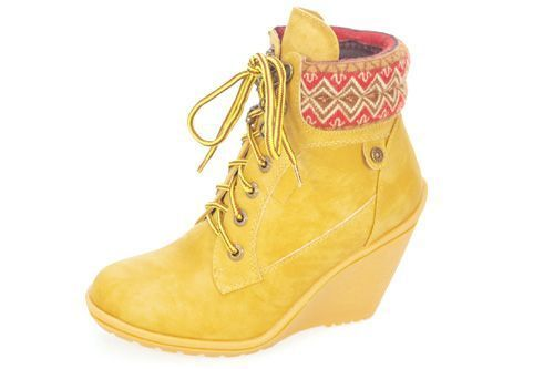 ca3fd0670 61500 BOTINES CUÑA REFRESH color AMARILLO