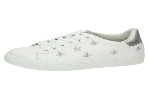 09a3cedf 7-J105A-12 ZAPATILLAS BLANCAS color BLANCO-PLATA 7-J105A-12 ZAPATILLAS...