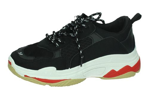 db5cadd198f 7-C51A-12 TENIS UGLY TRAINERS color NEGRO