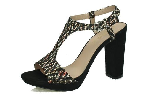 1040 SANDALIAS SERPIENTE color NEGRO