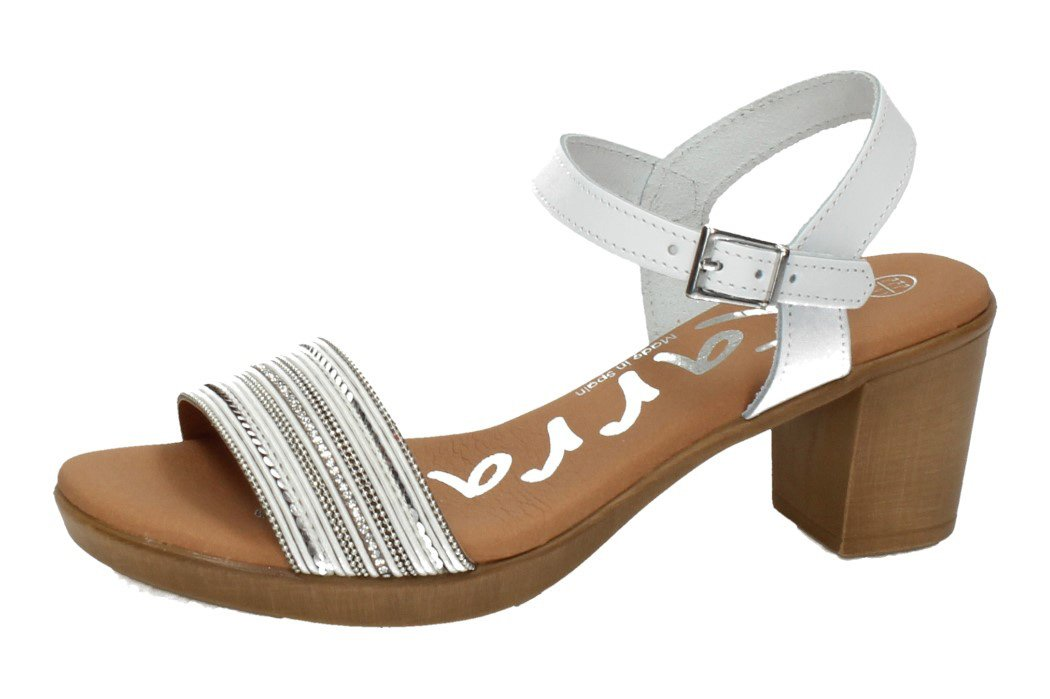4354 SANDALIA LENTEJUELAS color BLANCO