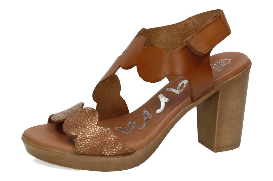 4386 TACONES PIEL SANDALS color ROBLE
