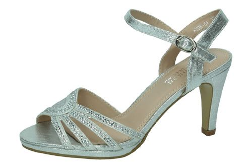6206-51 SANDALIAS BRILLANTES color PLATA