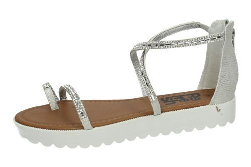 64202 SANDALIAS CON STRASS color PLATA