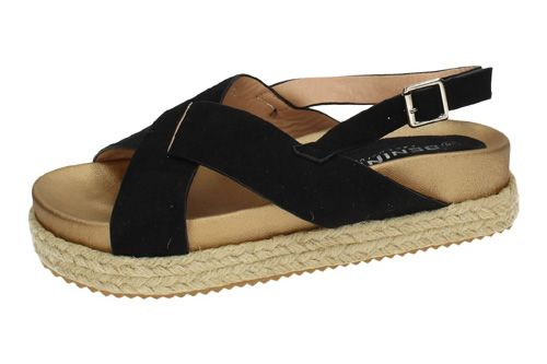 A8079 SANDALIAS ESPARTO color NEGRO