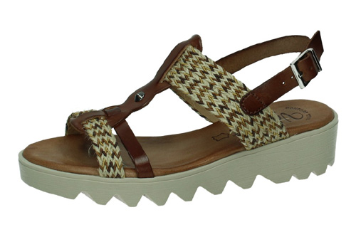 7141 SANDALIAS CONFORT color NUEZ