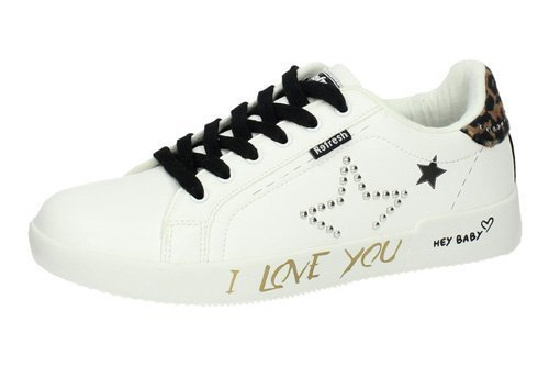 69341 ZAPATILLA I LOVE YOU color BLANCO