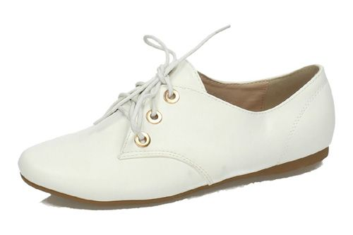 HY025 ZAPATOS BLUCHER H.F color BLANCO