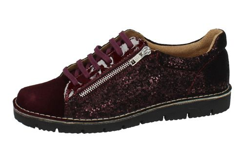 21668 ZAPATO BLUCHER PIEL color BURDEOS
