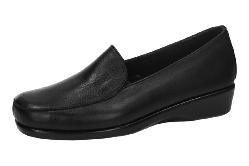 0301/01 MOCASINES DE PIEL color NEGRO