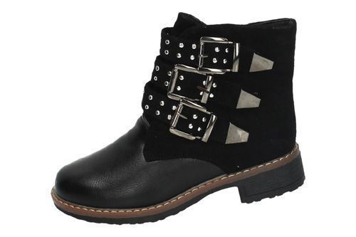 90507 BOTAS CON HEBILLAS color NEGRO