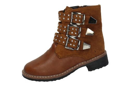 90507 BOTAS CON HEBILLAS color CAMEL