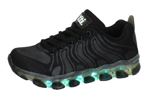 55353 TENIS CON LUCES LEDS color NEGRO
