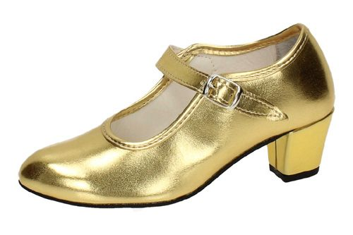 22 ZAPATO DE FLAMENCO color ORO