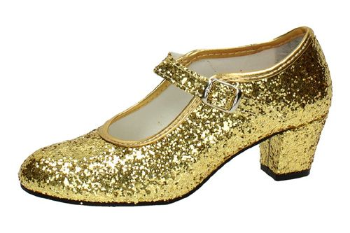 26 ZAPATO DE SEVILLANAS color ORO