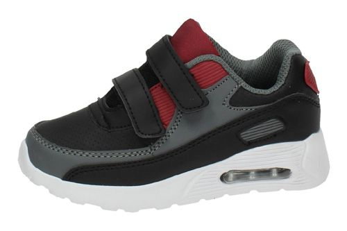 6847K-12 DEPORTIVAS AIR color NEGRO-ROJO
