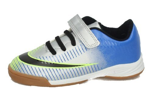 3-6560A-12 ZAPATILLAS FUTSAL color PLATA