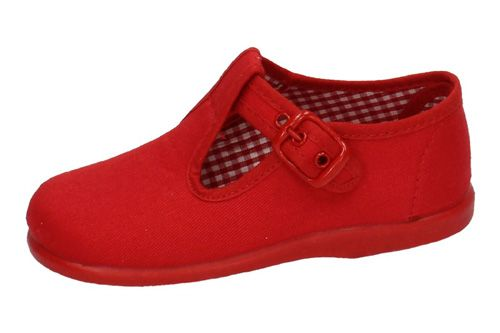 952 LONAS CON HEBILLAS color ROJO