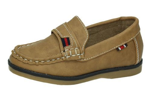 3-NS580D-18 MOCASINES NIÑO DEMAX color CAMEL